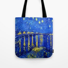 Starry Night Over Rhone Tote Bag