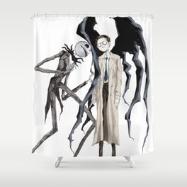 Jack and Castiel Shower Curtain