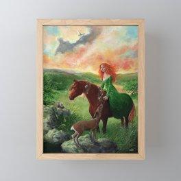 Aine, Queen of the Faeries Framed Mini Art Print