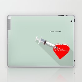 Shot to the heart - Pulp fiction Overdose Needle Scene needle for injection  Laptop & iPad Skin