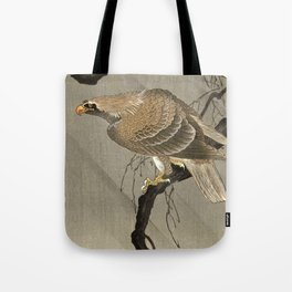 Koson Ohara - Eagle on a Branch - Japanese Vintage Woodblock Painting Tote Bag