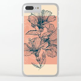 Hibiscus Colors Clear iPhone Case
