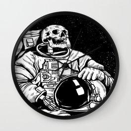 Skull Astronaut Wall Clock