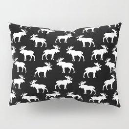 Moose Trot // Black Pillow Sham