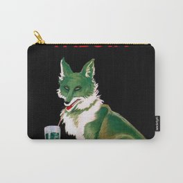 Vintage Menta Pezziol Padova Crazy like a fox Aperitif Lithograph Wall Art Carry-All Pouch