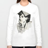 audrey Long Sleeve T-shirts featuring Audrey by Krzyzanowski Art