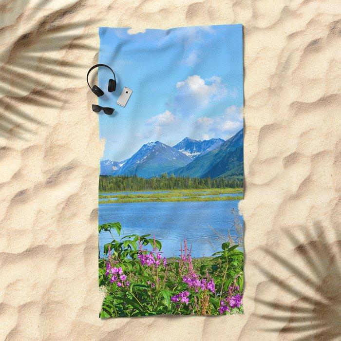 God's Country - II Beach Towel