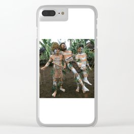 Papua New Guinea Villagers 'Play Fighting' Clear iPhone Case