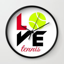 Love tennis Wall Clock