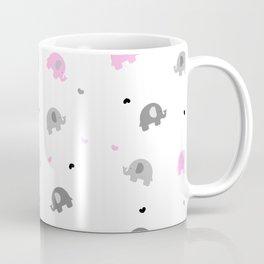 Baby Pink Elephants Coffee Mug