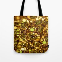 solid color Tote Bags featuring :: Solid Gold :: by :: GaleStorm Artworks ::