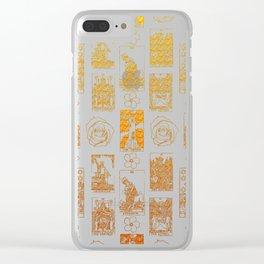 Beautiful Golden Tarot Card Print Clear iPhone Case