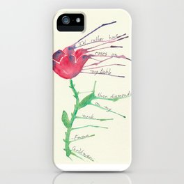 Rose with Emma Goldman quote iPhone Case