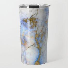 Gold And Blue Marble Travel Mug