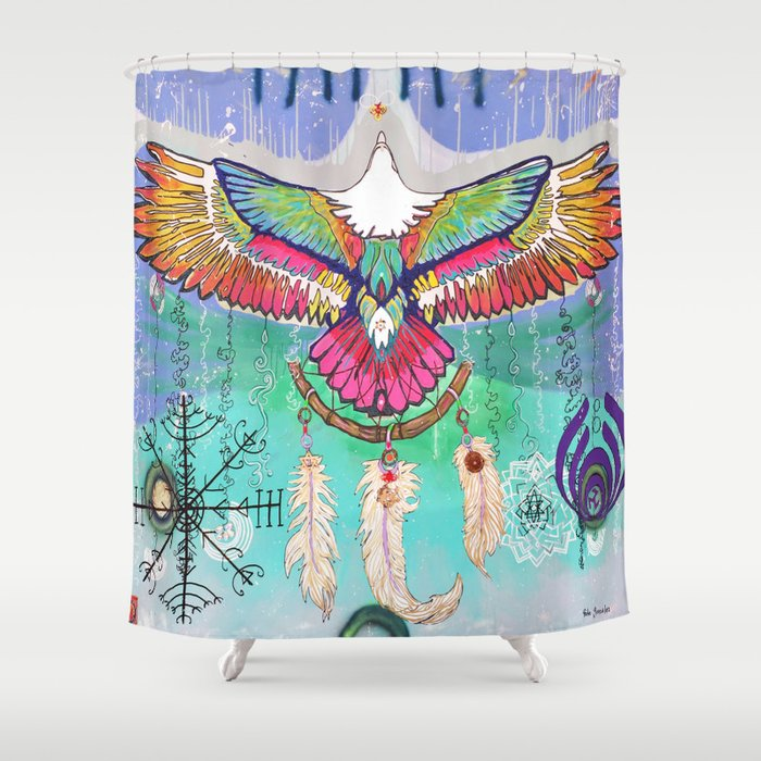 Flying Eagle Shower Curtain