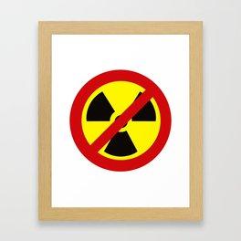 NO_NUKES Framed Art Print