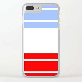 TEAM COLORS 9...Red,light blue, white Clear iPhone Case