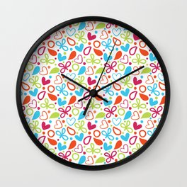 Colorful Lovely Pattern XVI Wall Clock