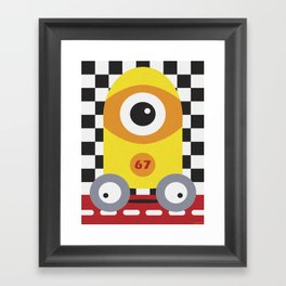 PIT STOP Framed Art Print