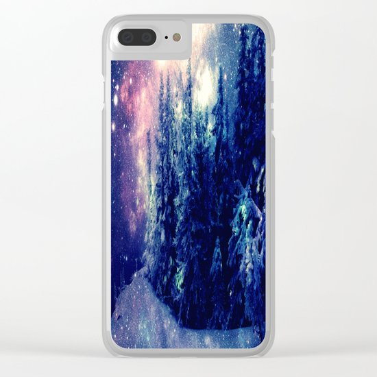 Galaxy Forest : Deep Pastels Clear iPhone Case