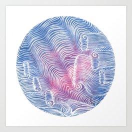 Blush Tint Abstract Art Print