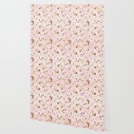 Pink Brown Swirls Wallpaper