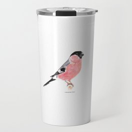 Siberian Bullfinch (white palette) Travel Mug