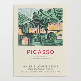 Pablo Picasso. Exhibition poster for Galerie Louise Leiris in Paris, 1962. Poster