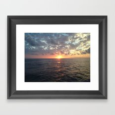 Sunset, Florida Keys Framed Art Print