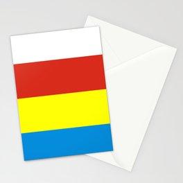 Flag of podlaskie or Podlasie Stationery Cards