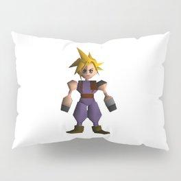 Cloud Low Poly - Final Fantasy VII Pillow Sham