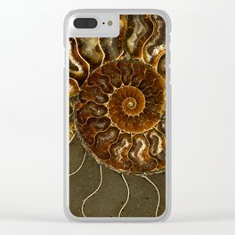 An ancient amonite Clear iPhone Case