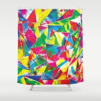 rave Shower Curtains featuring Rave Paint by Mariah Williams