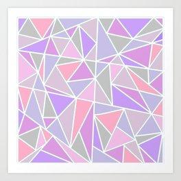 Pastel Shards Geometric Pattern Art Print