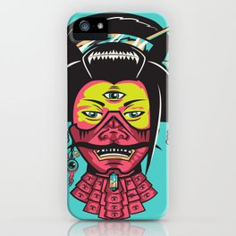 Samurai Geisha iPhone Case