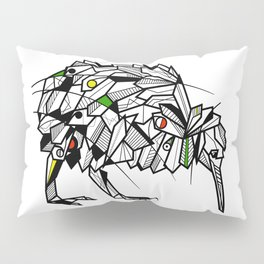 Kiwi Bird Geometric Pillow Sham