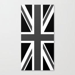 Union Jack - Black and White Canvas Print