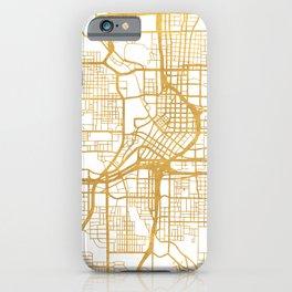 ATLANTA GEORGIA CITY STREET MAP ART iPhone Case