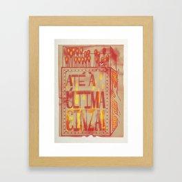 Matchbox Quote Art Print Framed Art Print