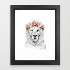 Festival lion Framed Art Print