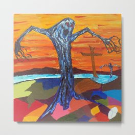 Screaming Tree (oil sketch for 'The Screaming Trees' painting) Metal Print