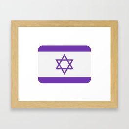 israel flag Framed Art Print