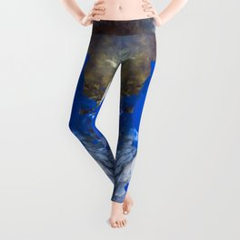 Blue Bomb Leggings