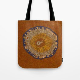 Growing - ginkgo - embroidery based on plant cell under the microscope Tote Bag