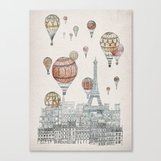 Voyages Over Paris Canvas Print