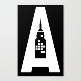 Artcotechsure: The A (black) Canvas Print