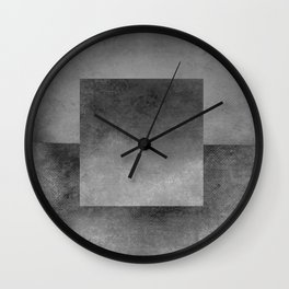 Square Composition XII Wall Clock