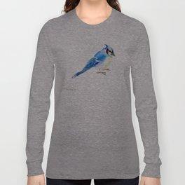 Blue Jay design. blue jay home decor Long Sleeve T-shirt