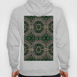 teal silver emerald green rhinestone crystal bohemian pattern Hoody