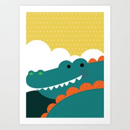 Crocodile rock Art Print